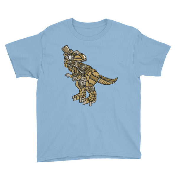 Steampunk Dino Youth Short Sleeve T-Shirt - Apparelized