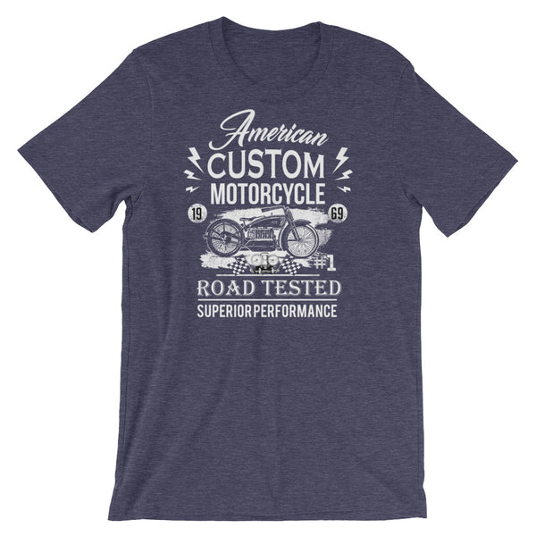 American Custom Classic Motorcycle Short-Sleeve Unisex T-Shirt - Apparelized