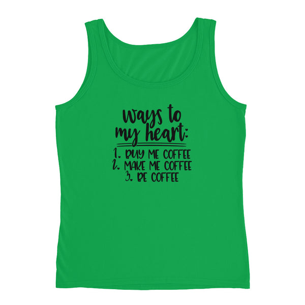 Ways to my Heart Coffee Ladies' Tank - Apparelized