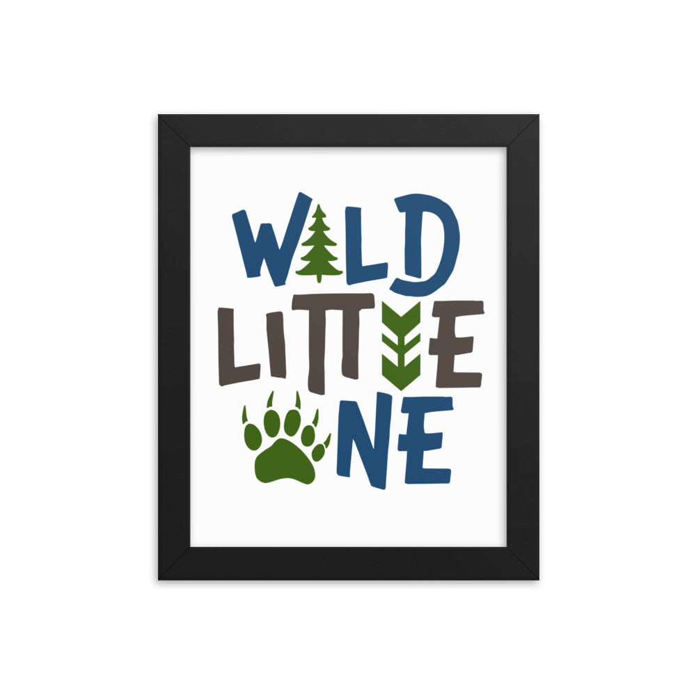 Wild Little One framed poster for kids room - Apparelized