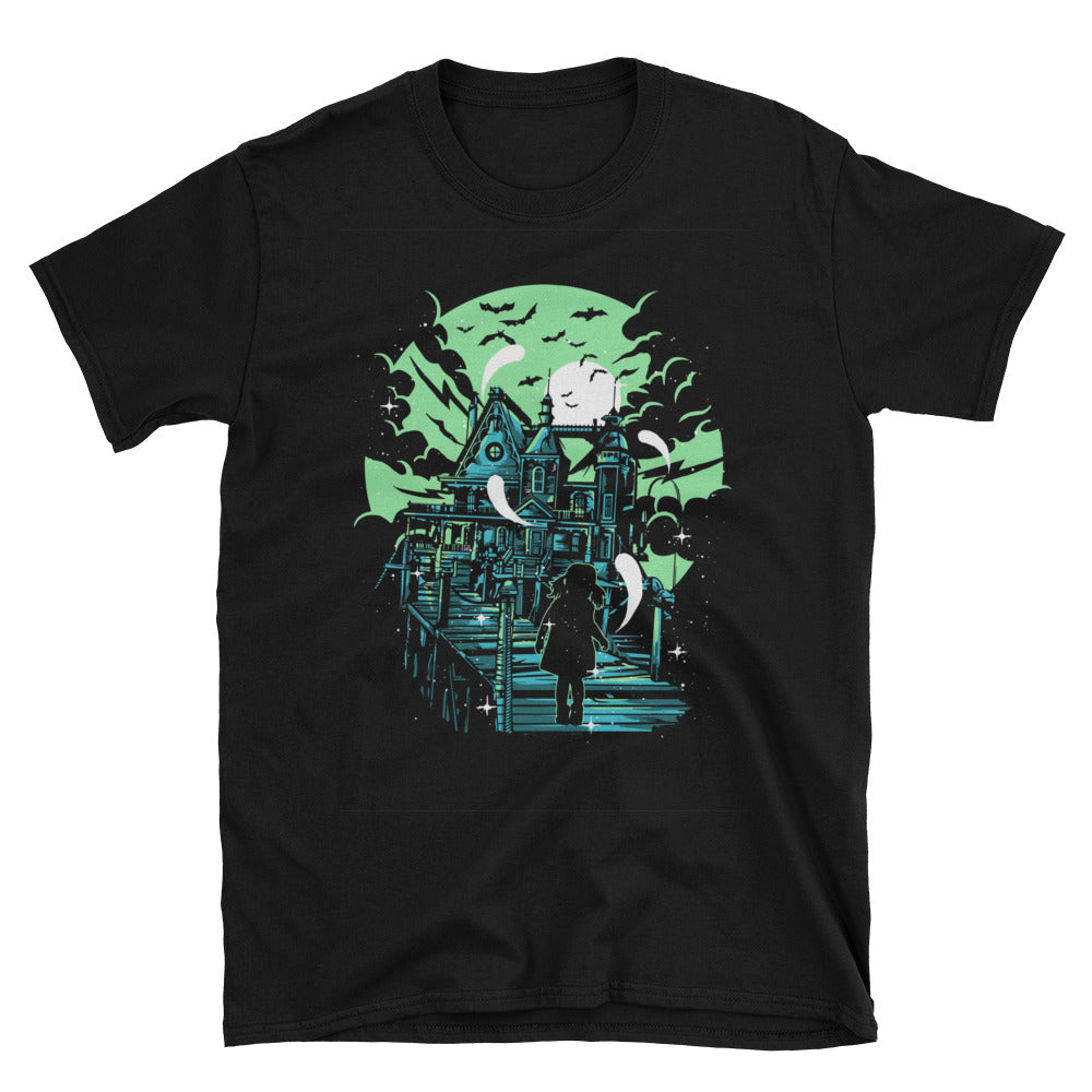Haunted House Short-Sleeve Unisex T-Shirt - Apparelized