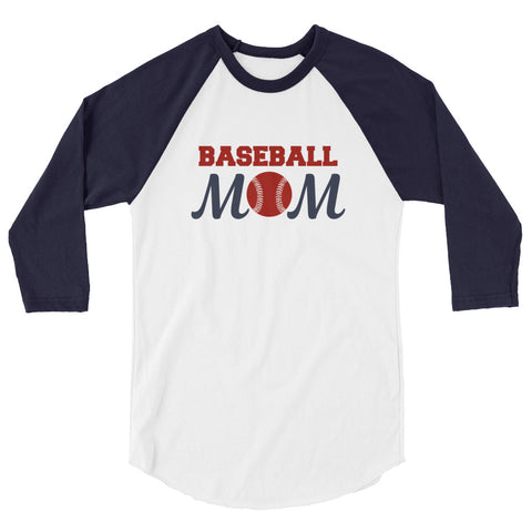 Baseball Mom 3/4 sleeve raglan shirt - Apparelized