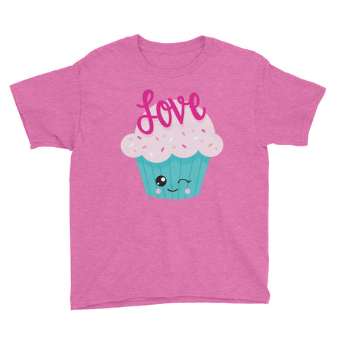 Love Cupcake Youth Short Sleeve T-Shirt - Apparelized