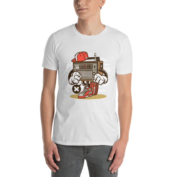 Old School Transistor Radio Short-Sleeve Unisex T-Shirt - Apparelized
