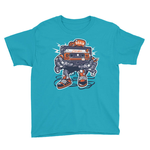 Zombie Cassette Youth Short Sleeve T-Shirt - Apparelized