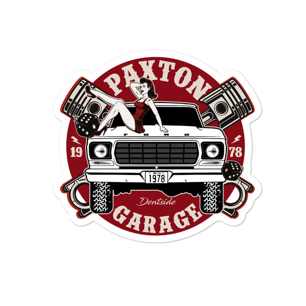 Paxton Garage Bubble-free stickers
