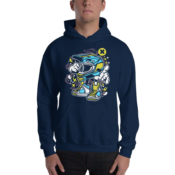Motocross Dude Hooded Sweatshirt - Apparelized