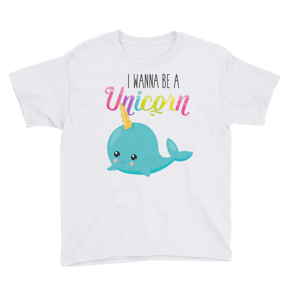 I Wanna Be a Unicorn Whale Shirt For Kids - Apparelized