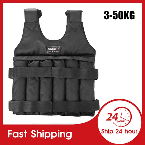 Loading Weight Vest Boxing Weight Training Workout Fitness Gym Equipment Adjustable Waistcoat Jacket Sand without Counterweight
