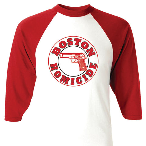 Boston Homicide Rizzles Raglan Baseball T-shirt - Apparelized