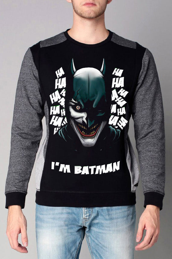 Batman Cut & Sew Printed Sweatshirt