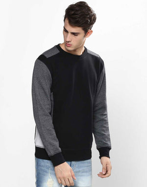 Contrast Fleece Sweatshirt
