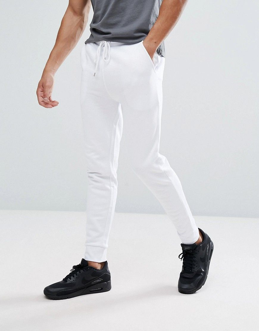 Skinny White Joggers