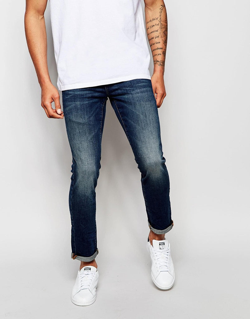 Washed Jeans with Rips