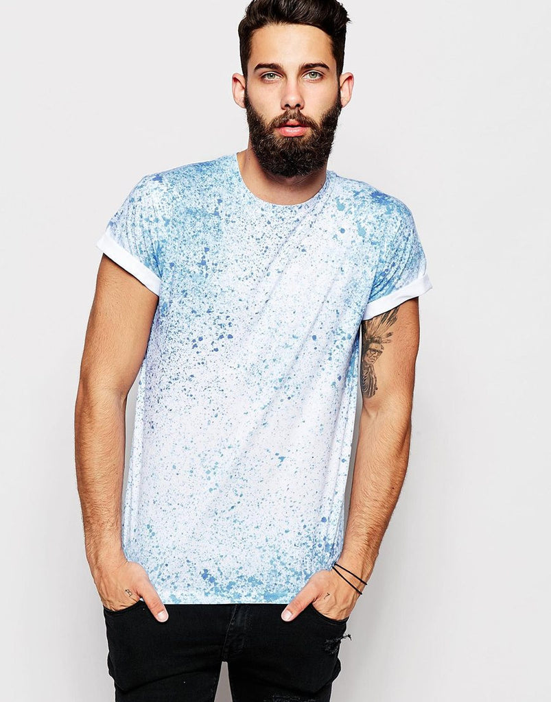 T-Shirt with Splatter Print