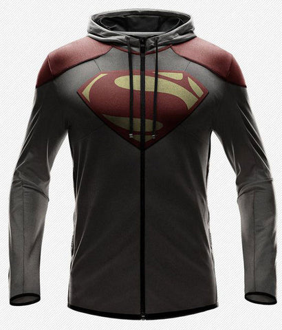 Superman Evo Patched Zipper Hoodie
