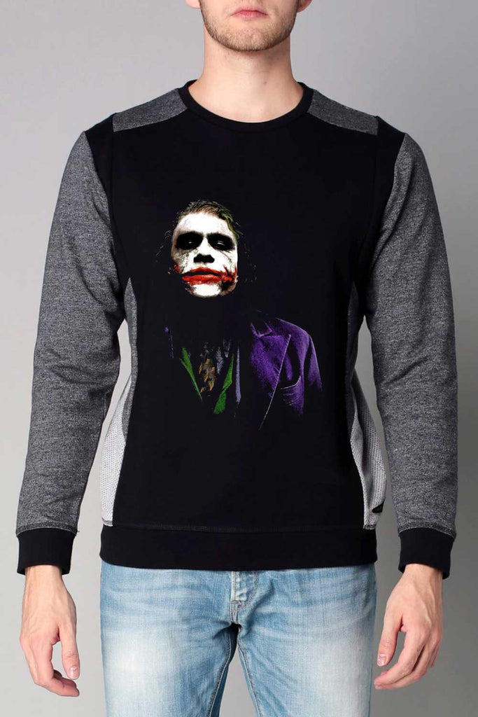Joker Face Cut & Sew Printed Sweatshirt