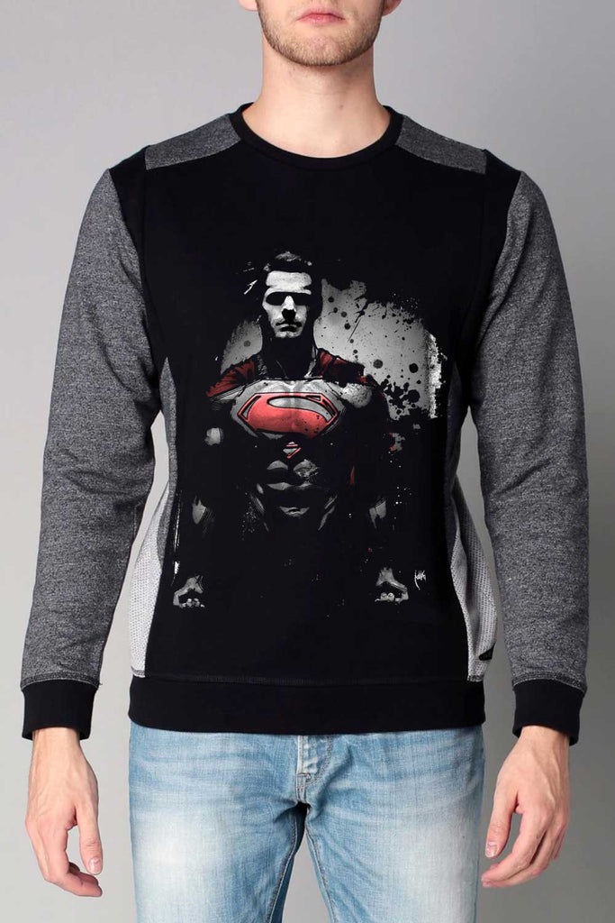 Man Of Steel Cut & Sew Printed Sweatshirt