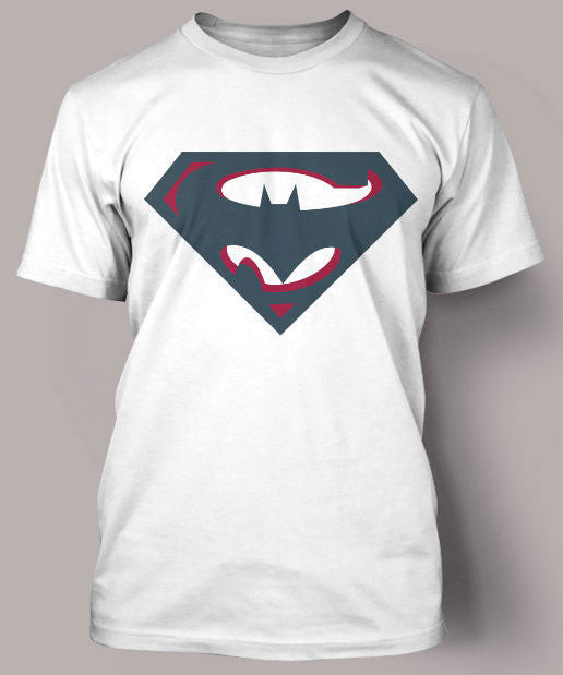 SuperBatman Round Neck T Shirt White.