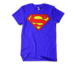 Superman Round Neck T-Shirt Blue.