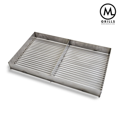 Stainless Charcoal Grate with Sides