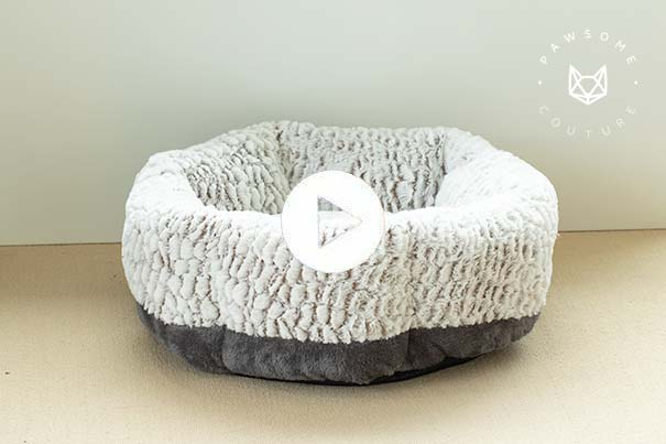Video showing the calming dog bed and calming cat bed dimensions and materials
