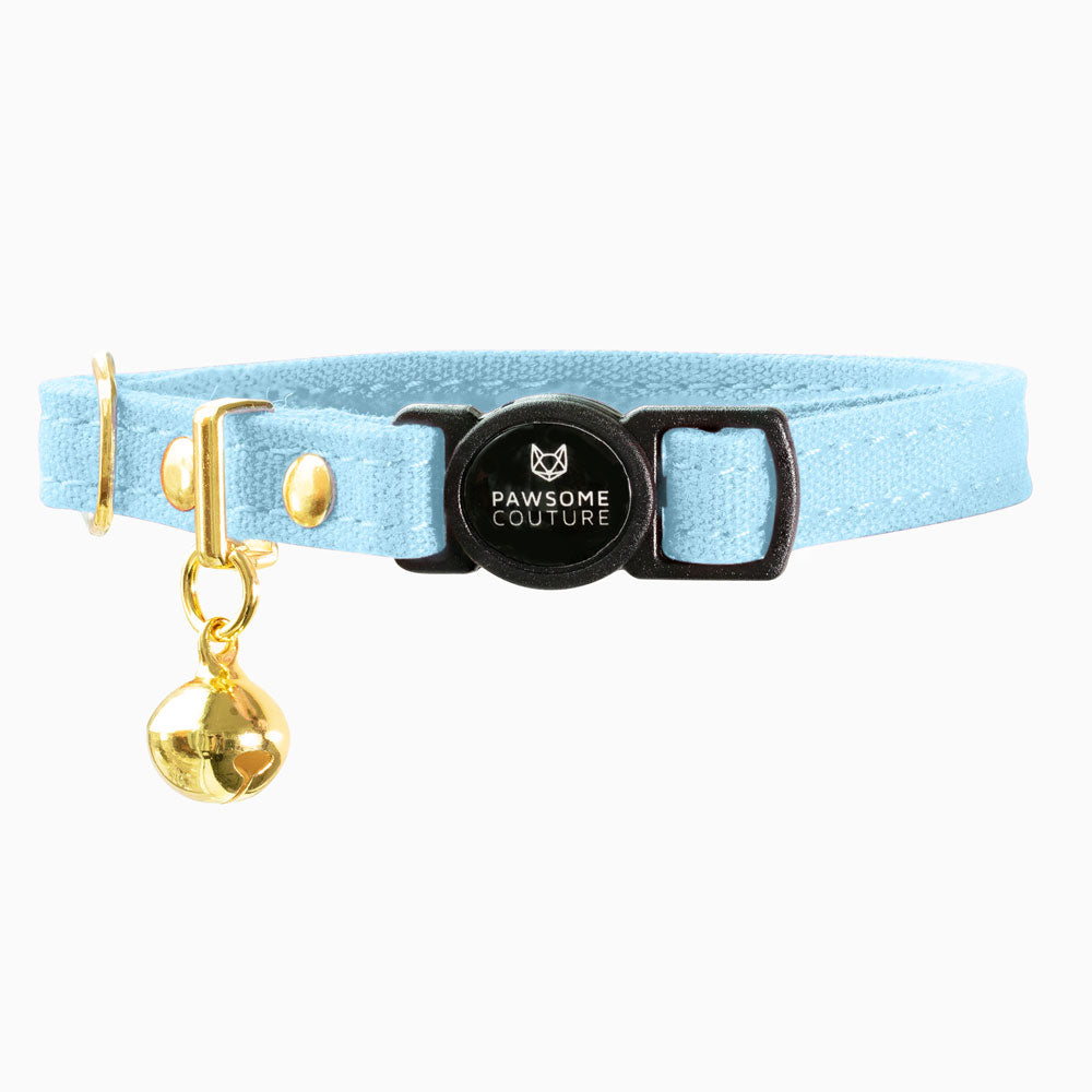 Sky Blue Breakaway Cotton Cat Collar