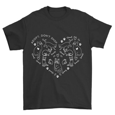 Adopt Don't Shop Heart Cat T-Shirt-Pawsome Couture