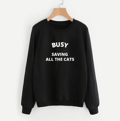 Busy Saving All The Cats Sweatshirt