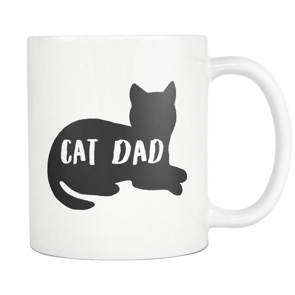 Cat Dad Silhouette Mug