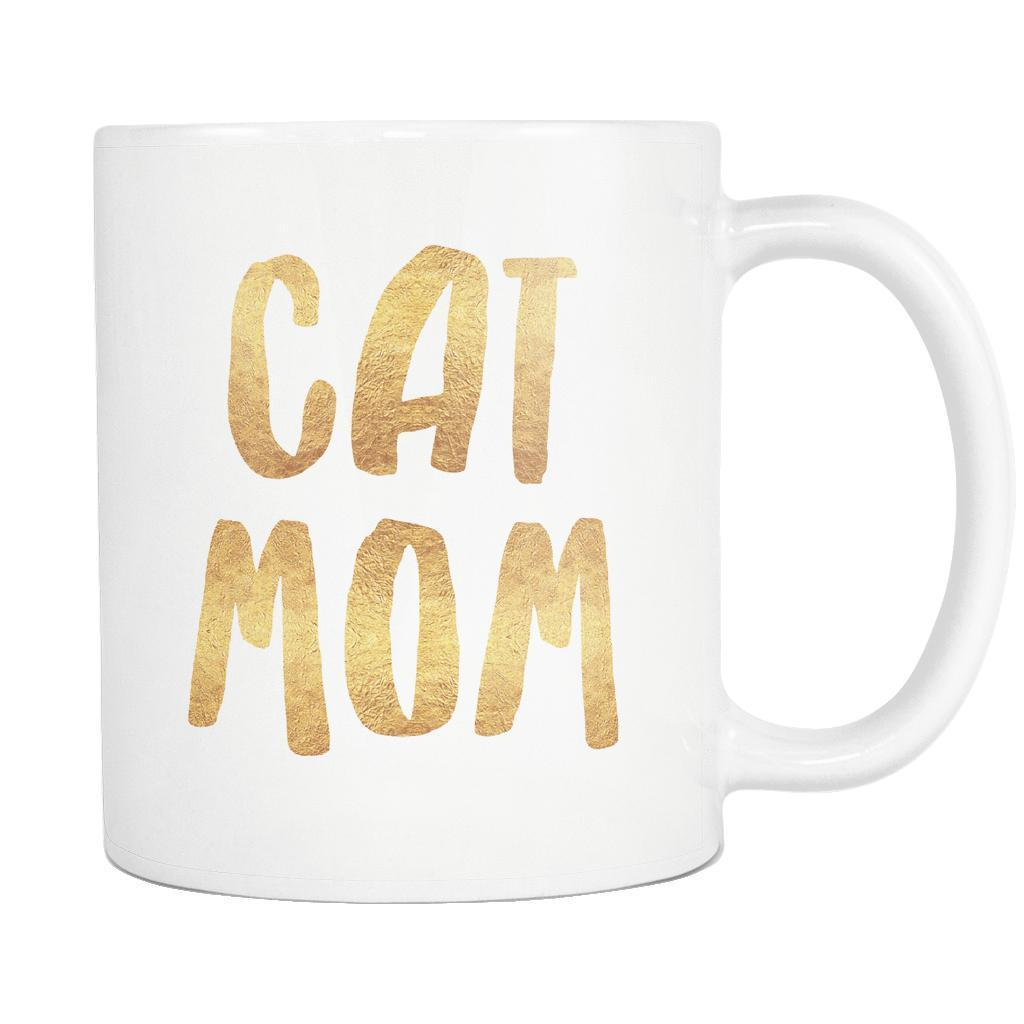 Cat Mom White Mug