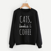 Cats, Books & Coffee Sweatshirt-Pawsome Couture