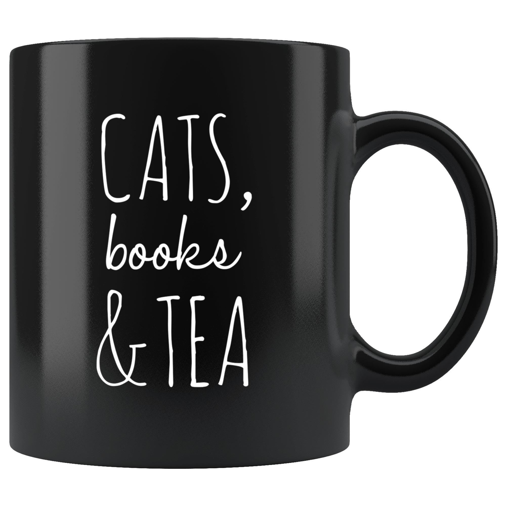 Cats, Books & Tea Mug (Black)