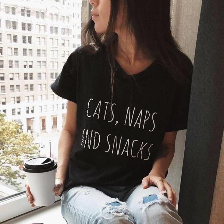 Cats, Naps & Snacks T-Shirt