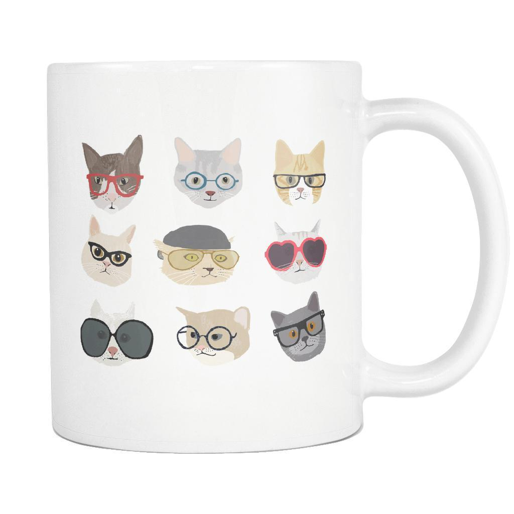 Cats With Glasses Mug
