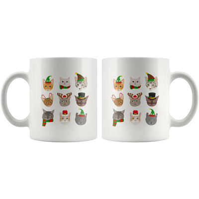 Christmas Cats In Hats White Mug