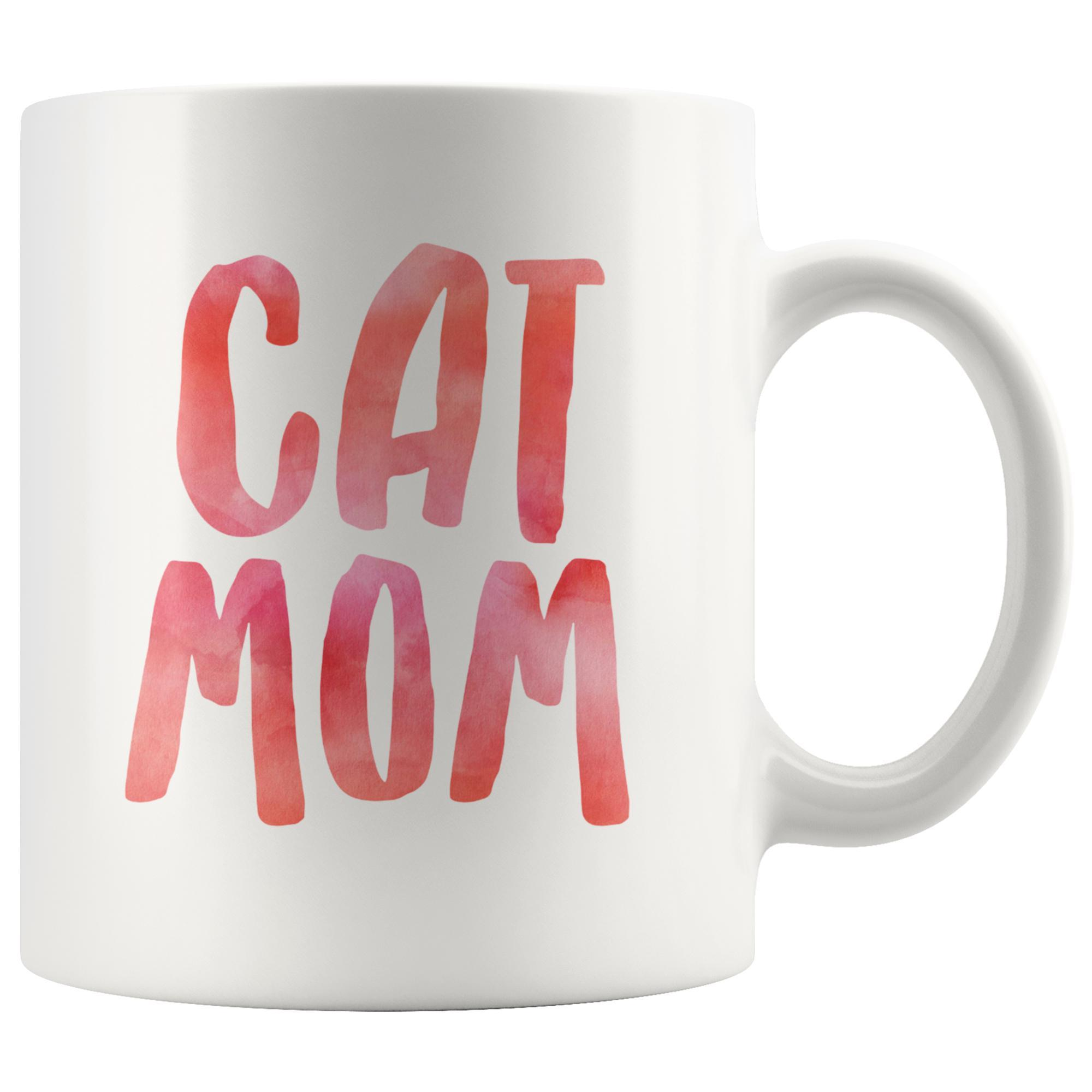 Colorful Cat Mom Mug