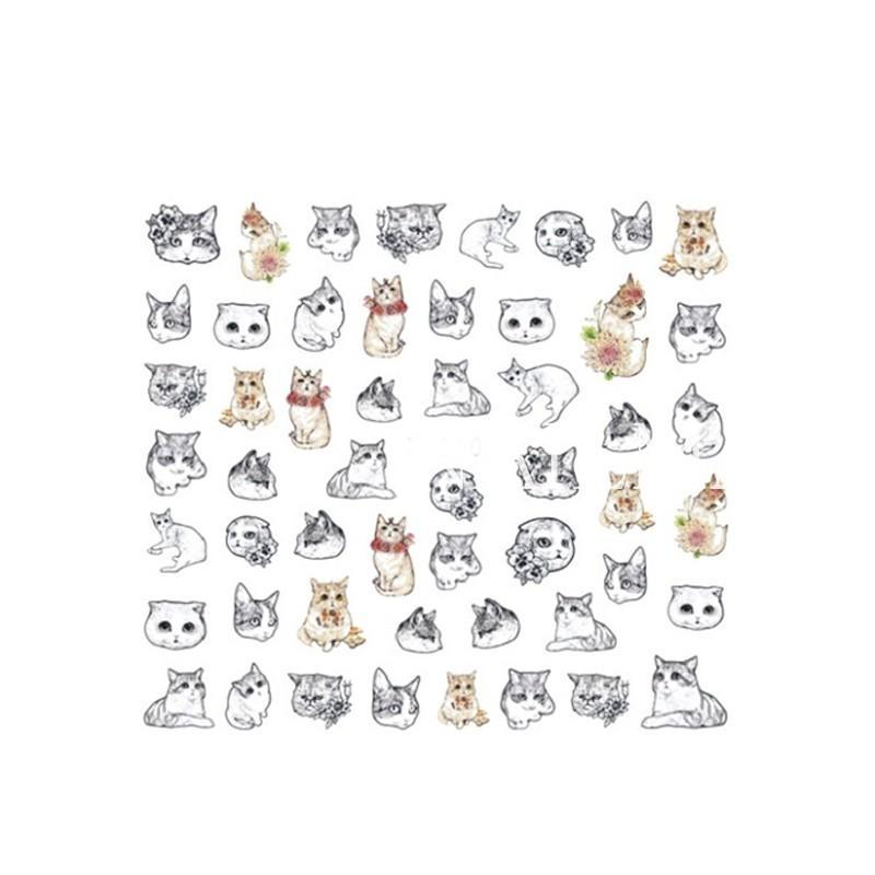 Cute Cat Nail Art Transfer Sheet