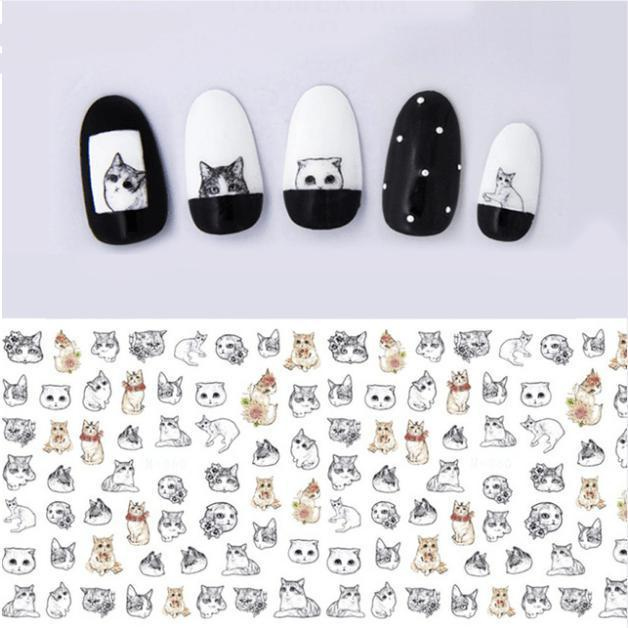 Cute Cat Nail Art Transfer Sheet - Pawsome Couture