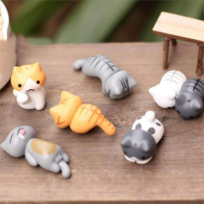 Cute Mini Cat Decorations 6 Pieces