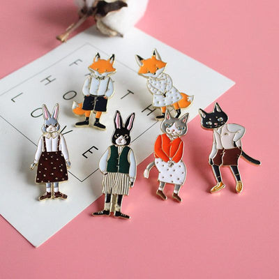 Dapper Animals Pin Set (6 Piece set)