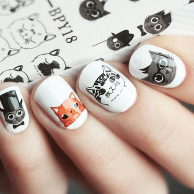 Dapper Cats Nail Art
