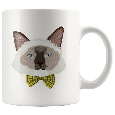 Dapper Siamese Cat Mug-Pawsome Couture