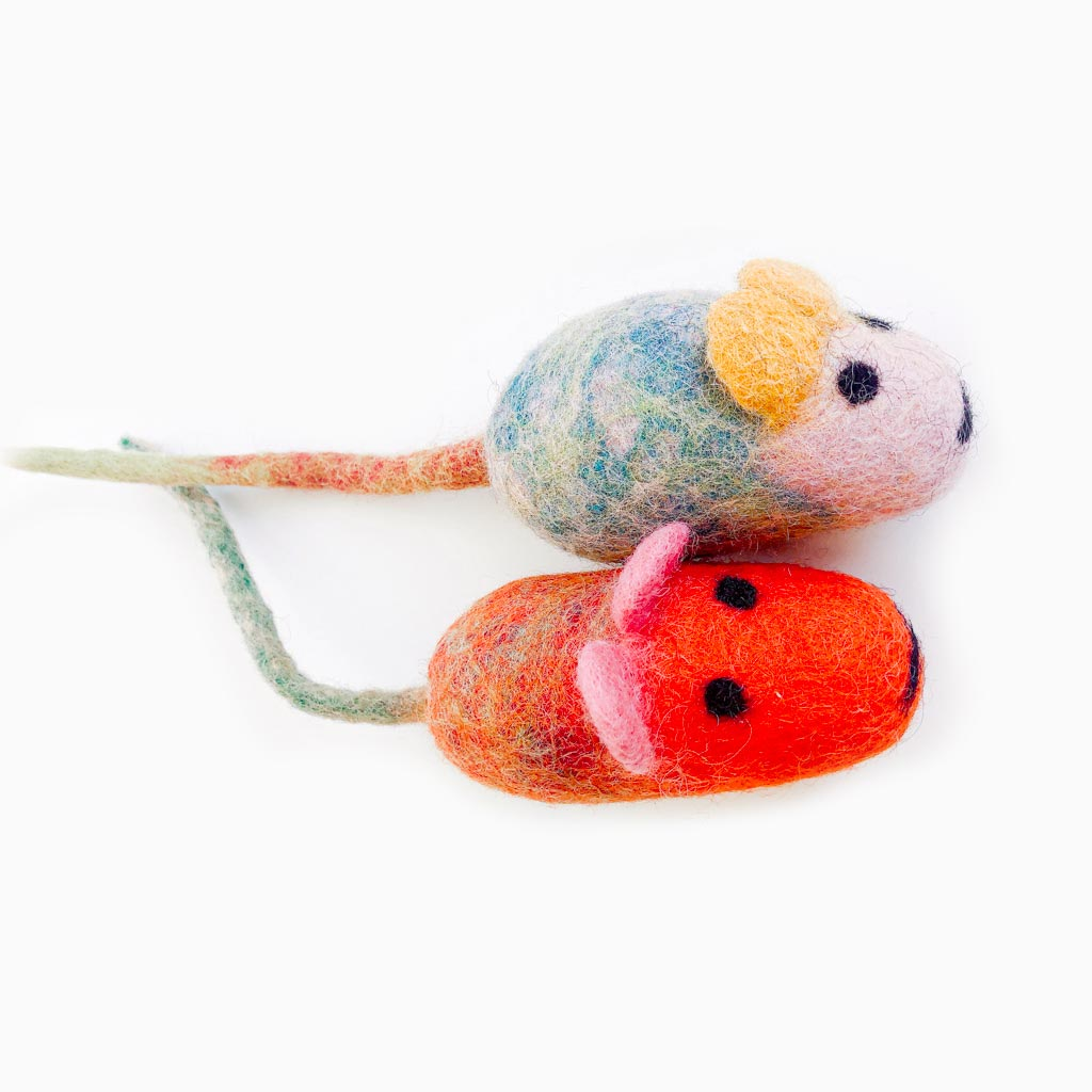 Wool Mice Cat Toys - Pawsome Couture