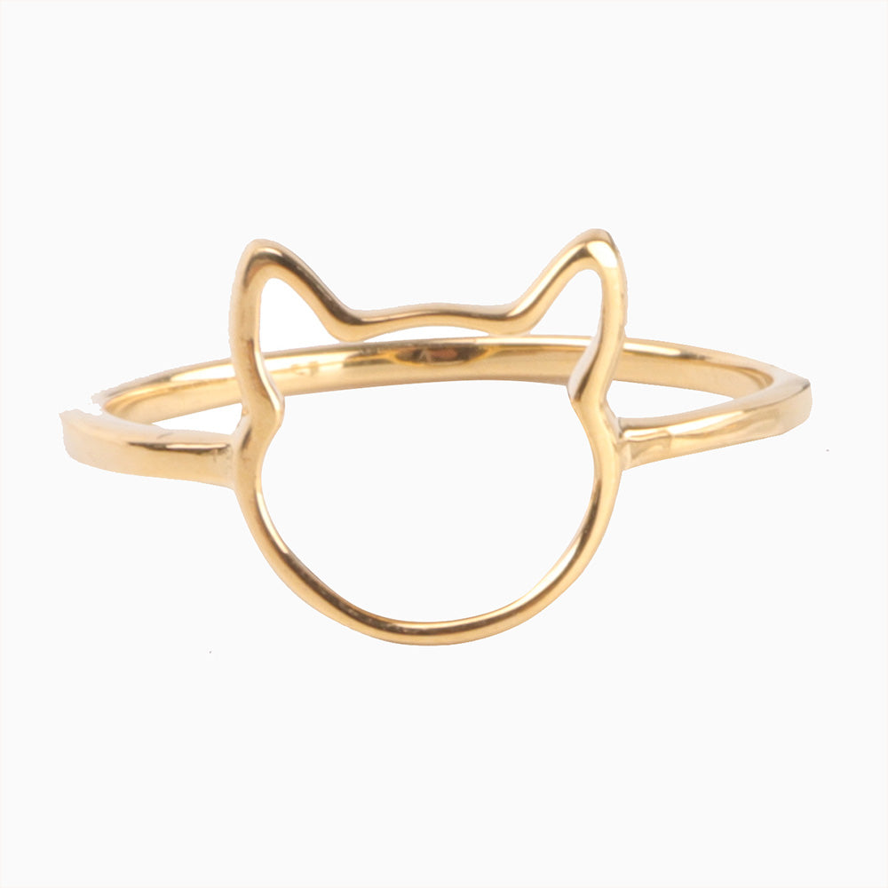 Open Cat Face Ring - Pawsome Couture