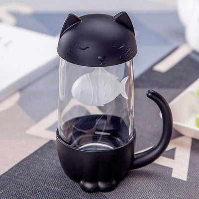 Happy Cat & Dog Tea Brewer Mug