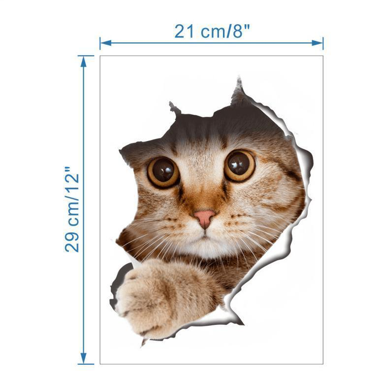 Hilarious Peeking Cat Decals