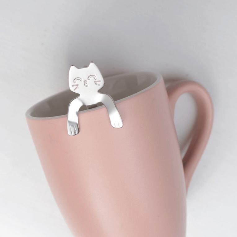 Hugging Kitty Spoons - Silver Edition