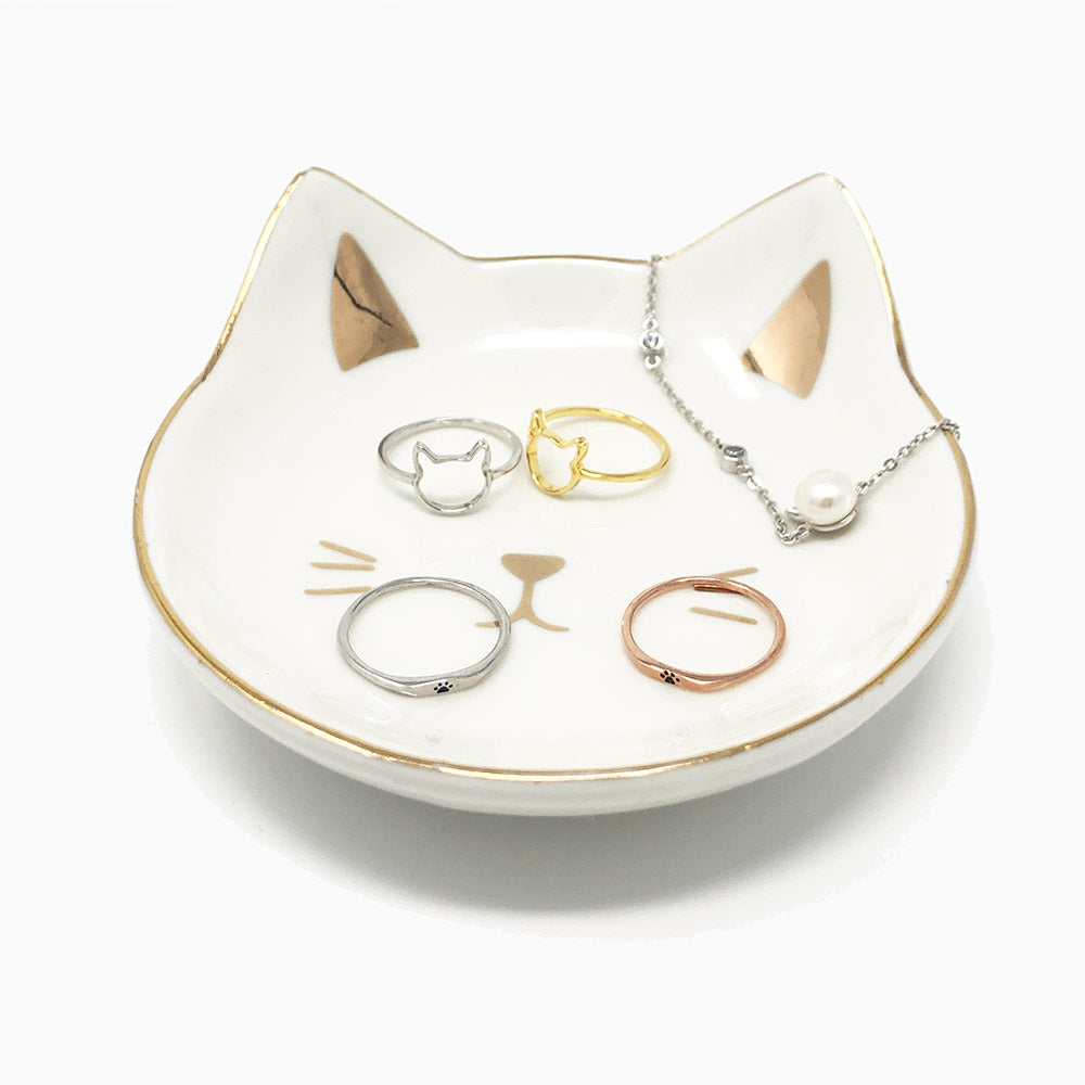 Cat Face Jewelry Dishes - Pawsome Couture