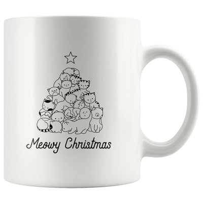 Meowy Christmas White Mug